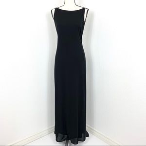 Laundry By Shelli Segal Maxi Black Dress 8